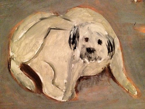 It's so cool Henri Matisse painted this dog. If it was a street dog or his pet you can tell the dog amused him and kept him company.