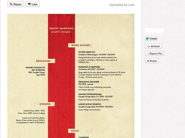 best 25  cool resumes ideas on pinterest
