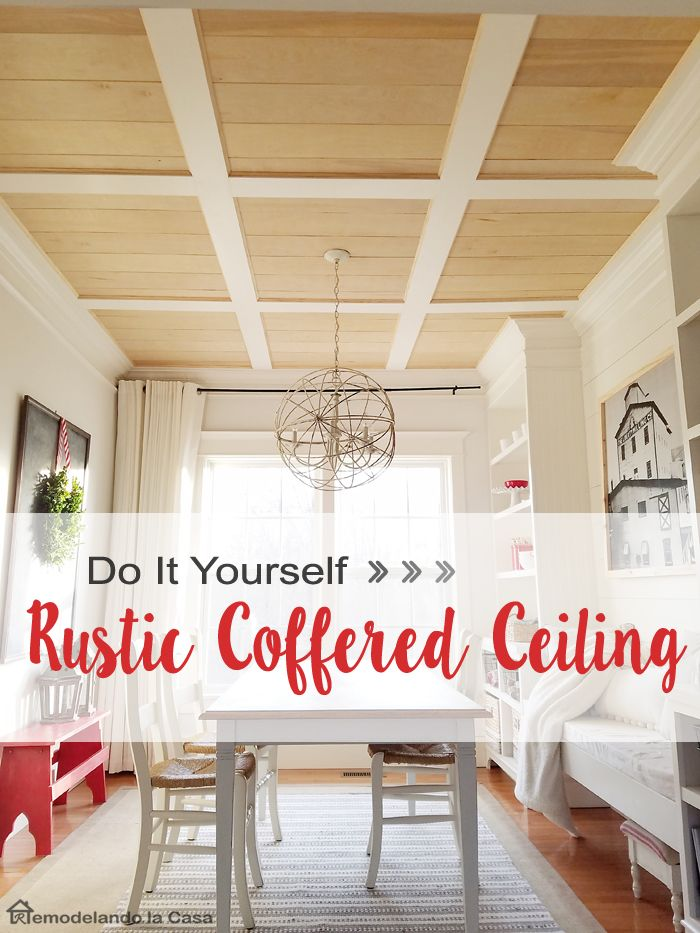 216 best for the home ceilings images on pinterest decorating diy rustic coffered ceiling and ryobi tools giveaway solutioingenieria Images