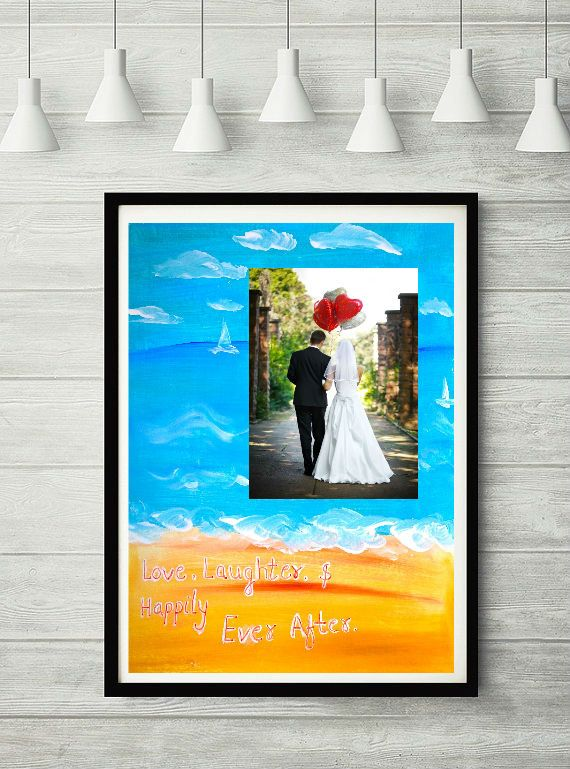 Couple Acrylic art wedding gift engagement by PooArtGallery