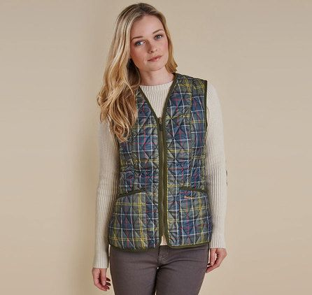 Barbour Lifestyle TARTAN BETTY LINER in Mink – Women