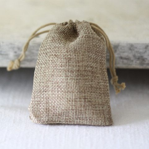 Hessian Wedding Favour Bags - The Wedding of My Dreams 0.65p