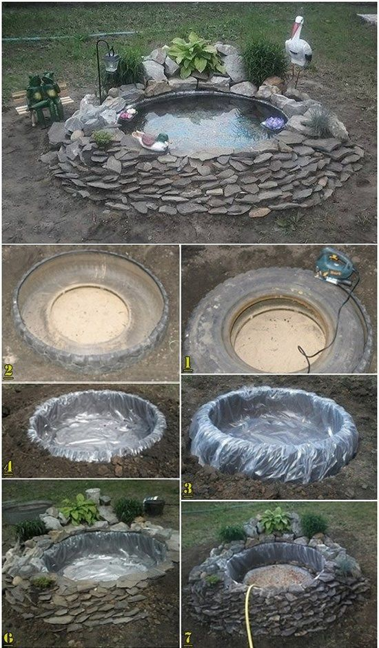 M s de 25 ideas incre bles sobre estanque de neum ticos en for Estanque ecologico