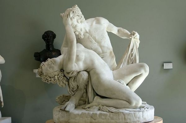 Satyre et Bacchante by Jean-Jacques Pradier (James). The faces are rumored to be that of the sculptor and his mistress Juliette Drouet