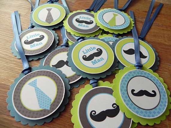 Favor Tags Little Man Mustache & Tie Party Favor Tags by BabyBinkz - use coupon code PIN10 for 10% off any order!Birthday Parties, Man Mustaches, Parties Favors, Ties Parties, Kid Birthdays, Parties Ideas, Favors Tags, Baby Shower, Parties Decor