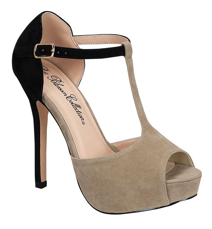 Mixi Suede Two-Tone Heels