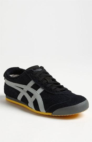 Fuzzy suede shapes a casual sneaker crafted with vintage sporty style. Color(s): black/ light grey, navy/ off white. Brand: Onitsuka Tiger. Style Name: Onitsuka Tiger 'Mexico 66' Suede...