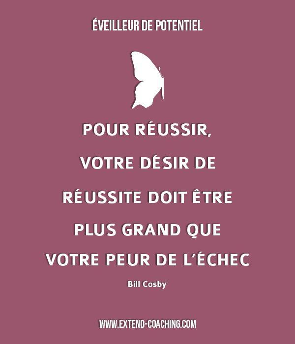 Pour réussir, votre désir de réussite doit être plus grand que votre peur de l'échec - Bill Cosby #Citation