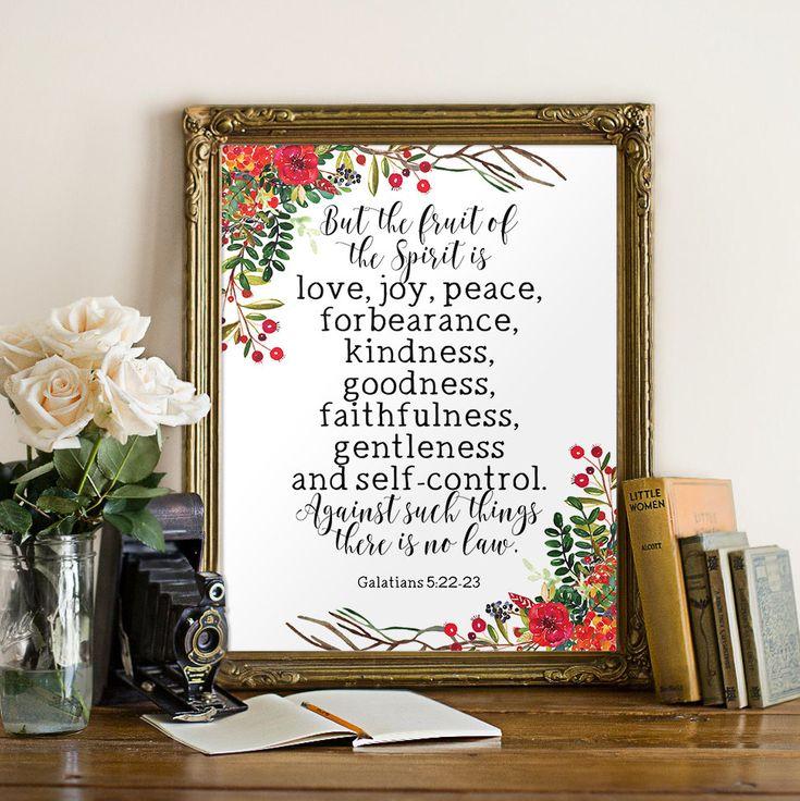 Bible verse print Fruit of the spirit