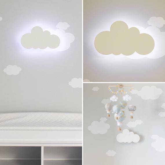 Cloud Night Light Nursery Wall