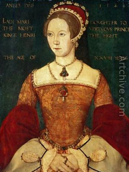 Mary I: 1516-1558, Mary I, also called Mary Tudor, was the first queen to rule England in her own right.  She was known as Bloody Mary for her persecution of Protestants in a vain attempt to restore Roman Catholicism in England.