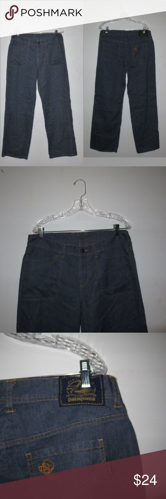 """Patagonia Jeans Women's Size 14  Flare Wide Leg Patagonia Jeans Women's Size 14  Flare Wide Leg Pants Waist: 35"""" Front Rise: 10.5"""" Inseam: 31"""" Very good condition,  Sizes listed are based on the item label.  Item fit and sizing can vary by Manufacturer (P) Patagonia Jeans Flare & Wide Leg"""