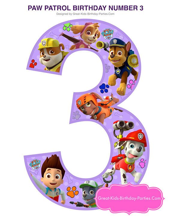 17 best ideas about paw patrol coloring on pinterest for Number 3 decorations