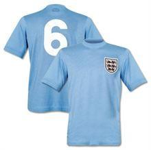 Show details for England 1970 Mexico WC Blue Retro Football Shirt