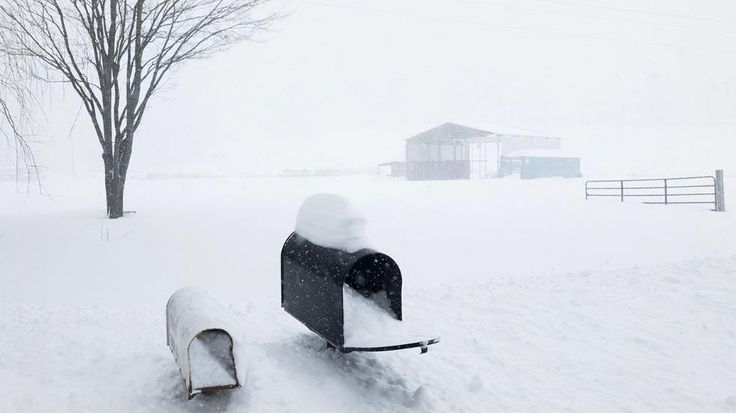 UNION DALE, PA - MARCH 14: Snow rises up to the mailboxes on March 14, 2017 outside of Union Dale, Pennsylvania. A blizzard has been forecasted to bring more than a foot of snow and high winds to up to eight states across the Northeast region today, as school districts were closed and thousands of flights were canceled. (Photo by Brett Carlsen/Getty Images)