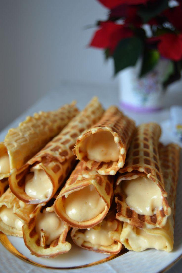 Crispy Lithuanian Waffles with Dulce de Leche Cream Filling These ...