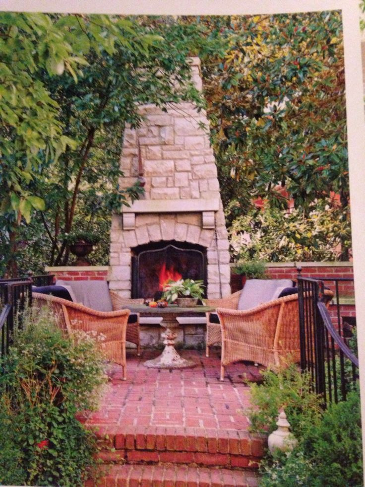 Outdoor fireplace for a small space outdoor fireplace for Small den with fireplace