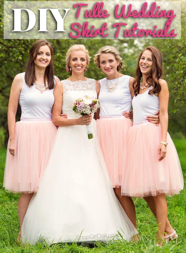 DIY Tulle Wedding Skirt Tutorials | DIY Tulle Skirt Tutorial ShopGirlDaily.com