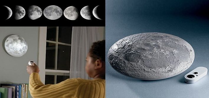 $15 for a Beautifully Textured Wall Moon Light OR $25 for 2 - Taxes Included ($49 Value)