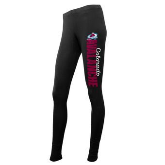 Women's Colorado Avalanche Concepts Sport Black Solid Leggings