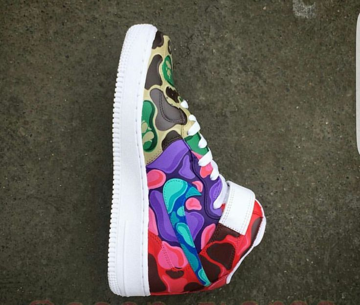 Air Force 1 Multi color Bape Custom by Sean Flores