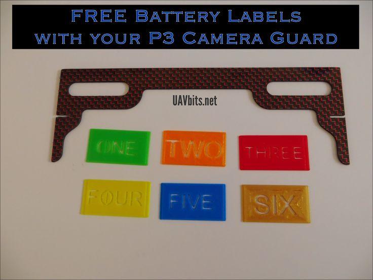 FREE Battery Labels with your #DJI Camera Guard #P3 #phantom3 #UAV from uavbits.net