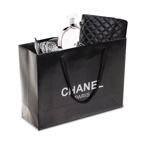 Premade Chanel Shopping Bag ❤ liked on Polyvore featuring bags, handbags, tote bags, fillers, shopping bags, accessories, chanel, shopping bag, shopper tote handbags and shopping tote bags