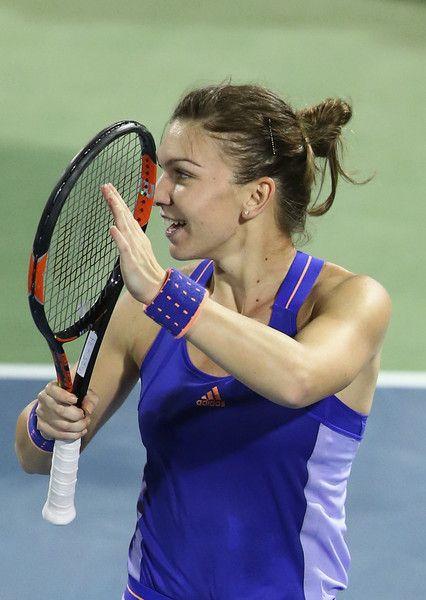Simona Halep Photos: WTA Dubai Duty Free Tennis Championship: Day 6