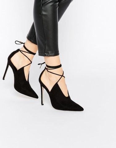 Elevate your height and look with this PROPELLOR Lace Up Pointed Heels from ASOS.