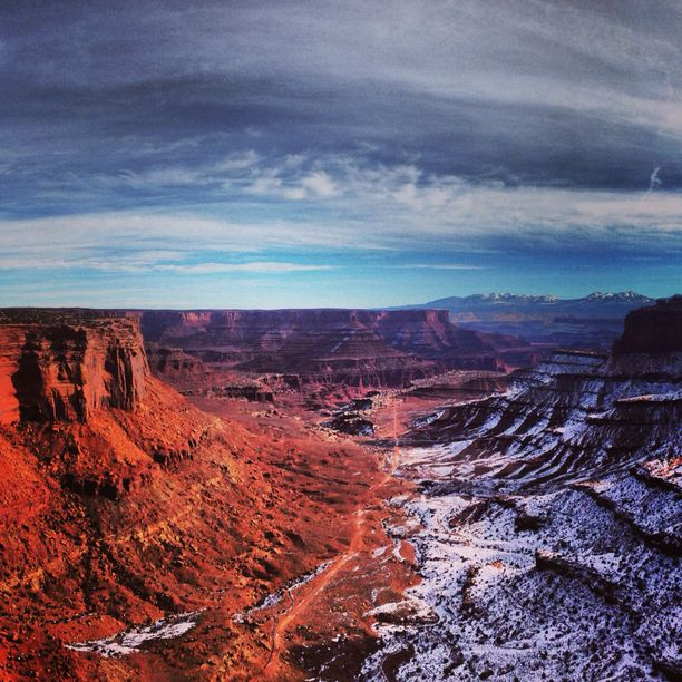 Discovered by George Johnson - Shafer Trail overlook in Canyonlands National Park...