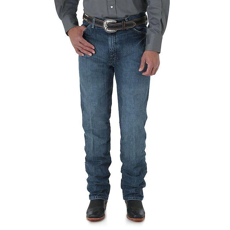 Wrangler Men's Cowboy Cut Silver Edition Slim Fit Jeans (Size: 28 x 30) Dark Blue