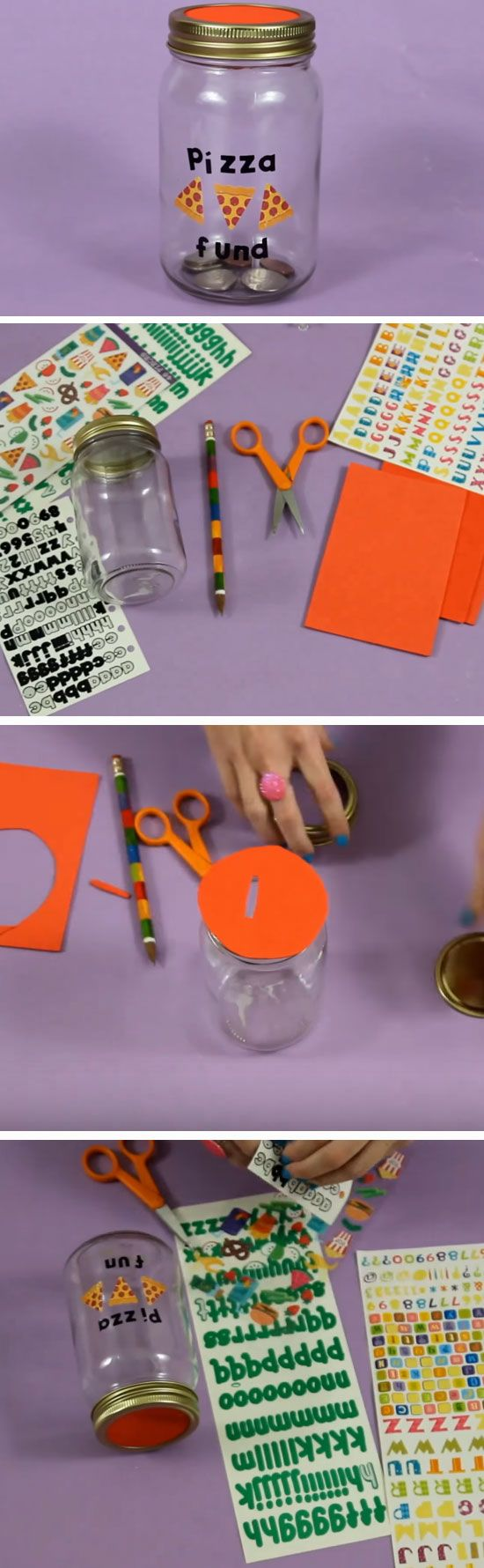 Pizza Fund   DIY Valentines Mason Jar Crafts for Him   Easy Gifts in a Jar Ideas for Boyfriend