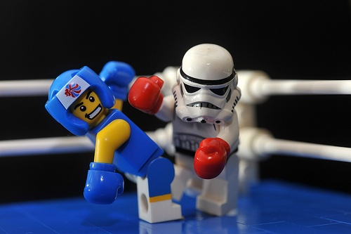 Boxing | LEGO Star Wars Stormtrooper & Team GB Boxer Minifigs by 713 Avenue