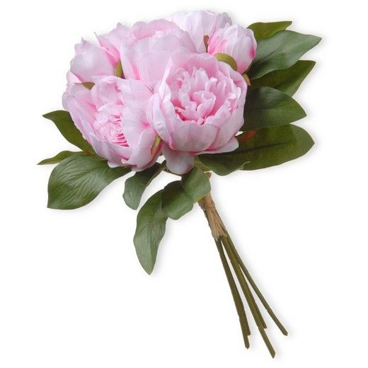 "Artificial Peony Bundle Pink 12"" - National Tree Company® : Target $19"