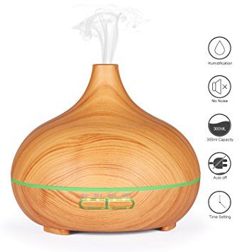 35$: Essential Oil Diffuser, Fivanus 300ml Aromatherapy Whisper Quiet Ultrasonic Cool Mist Aroma Humidifier 7 Color Changing LED Lights for Home Office Baby - Dark Wood Grain: Amazon.ca: Santé et Soins personnels