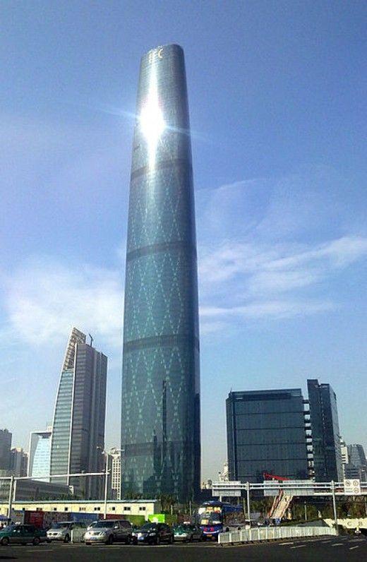 10)  Guangzhou International Finance Centre, Guanzhou, China - 1,440 ft with 102 Floors
