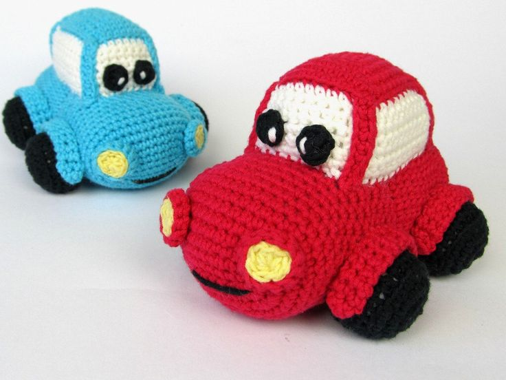 Happy Car - Amigurumi Crochet Pattern / PDF e-Book / Soft Toy Tutorial by DioneDesign on Etsy https://www.etsy.com/listing/474439809/happy-car-amigurumi-crochet-pattern-pdf