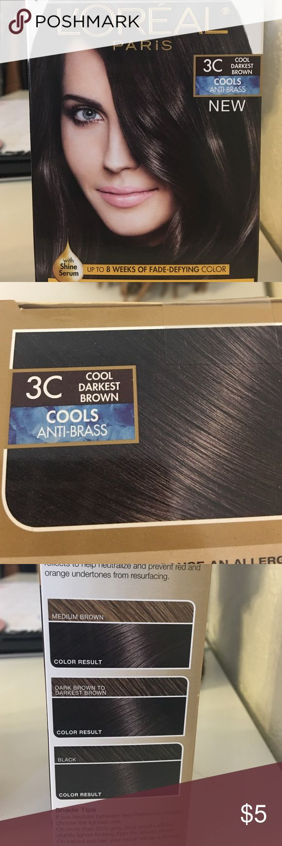 L'Oréal Paris 3C Cool Darkest Brown Cook Darkest Brown Haircolor loreal  Other