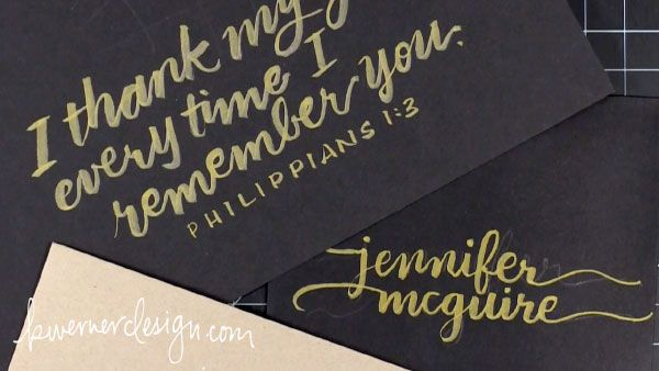 Writing With Brush Markers (Brush Calligraphy / Lettering) Kristina Werner