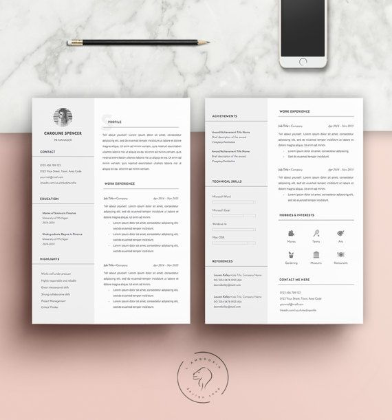 #Resume #Template for #MS #Word   Instant Download