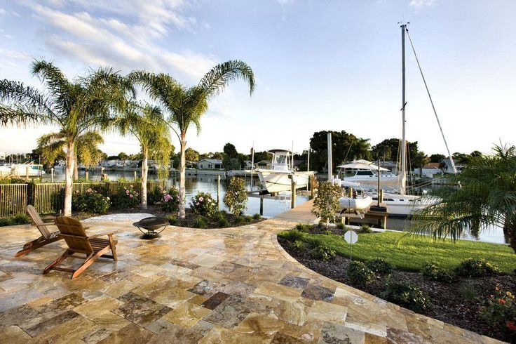 Travertine pavers come in multiple sizes similar to other natural stone pavers Travertine pavers for outdoor use are a standard 1-inch thickness but they also come in a 2-inch thickness. #travertinepavers #sefastoneusa #naturalstones #exteriordesign