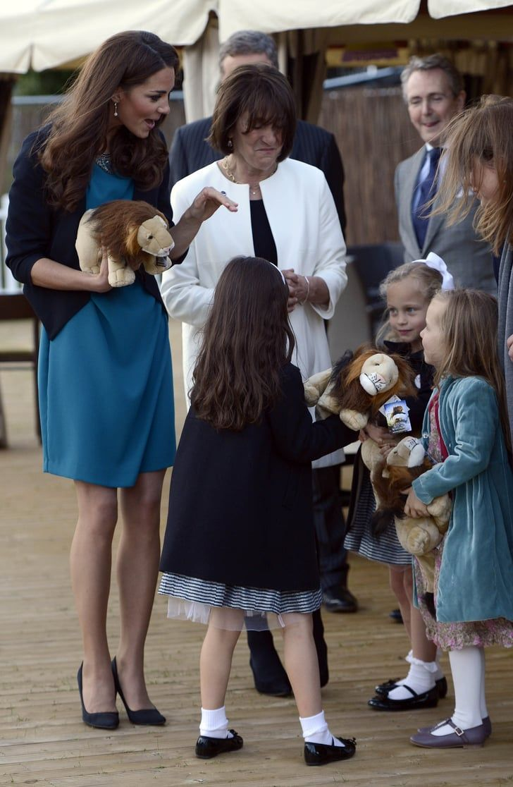 Pin for Later: Kate Middleton's Most Affordable Fashion  A teal Zara dress was teamed with a Whistles jacket for a kids' production of The Lion, the Witch and the Wardrobe.