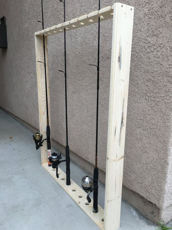 Fishing Pole Holderrackshelf By Dcscraftz On Etsy Fish