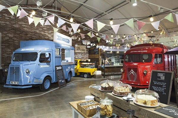 Food hall for families at Notcutts garden centre - Retail Design World