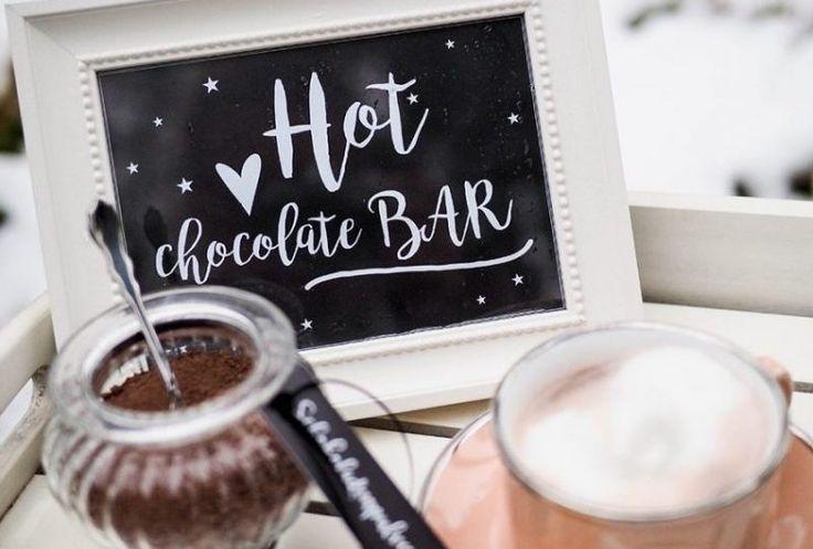 DIY Hot Chocolate Bar für die Winterhochzeit | Hochzeitsblog The Little Wedding Corner