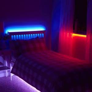 Colour changing LED strip lights.