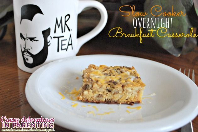 Looking for an easy breakfast recipe? Try this overnight breakfast casserole prepared in the slow cooker, crock pot or Ninja Cooking System.