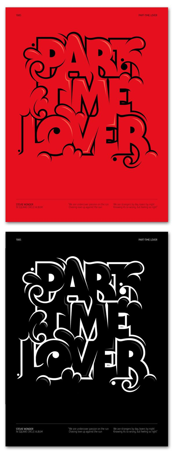 PART TIME LOVER, Andre Beato, type/illustration Graphic design inspiration