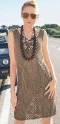 Схема вязания: Ажурное платье с крупными косами | Пуловеры спицами - petelka.net