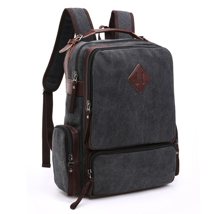 Rucksack Men's Canvas Backpack Leisure Travel Bag Vintage Rugzakken Fashion Morrales Men's Laptop Backpacks School Bags Bolsas